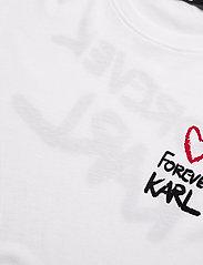 Karl Lagerfeld - forever karl t-shirt - t-shirts - white - 2