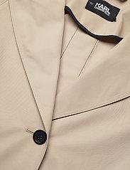 Karl Lagerfeld - Trench Coat W/ Logo Tape - trenchcoats - hummus - 2