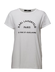 KARL LAGERFELD-Karl Lagerfeld Address Tee - WHITE