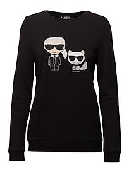 Karl & Choupette Ikonik Sweat - BLACK