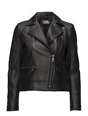 KARL LAGERFELD-Ikonik Odina Biker Jacket - BLACK