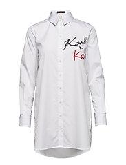 KARL LAGERFELD-Karl X Kaia Logo Poplin Shirt - WHITE