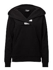 KARL LAGERFELD-Kl Logo Hoodie - BLACK