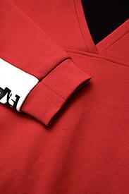 KARL LAGERFELD-V-Neck Logo Sweatshirt