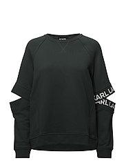 KARL LAGERFELD-Cut Out Sleeve Sweat W/Logo - GREEN GABLE