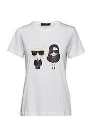 KARL LAGERFELD-Karl X Kaia Ikonik T-Shirt - WHITE