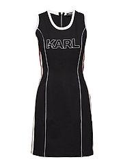 KARL LAGERFELD-Karl X Kaia Jersey Dress - BLACK
