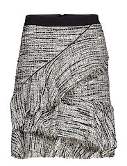 Boucle Skirt W/Ruffles - GREY