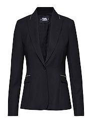 Tailored Summer Blazer - BLACK