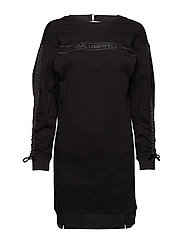 Logo Sweatdress W/ Logo Tape - BLACK