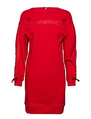 Logo Sweatdress W/ Logo Tape - RED