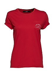 Rue Lagerfeld Pocket Tee - RED