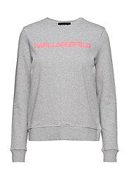 Neon Lights Logo Sweatshirt - GREY
