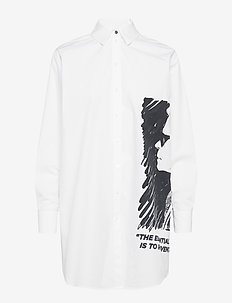 Karl Legend Tunic Shirt - WHITE