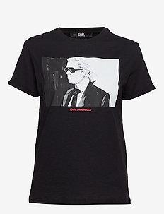 Karl Legend Colorblock T-Shirt - BLACK