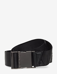 Karl X Carine Webbing Belt - BLACK