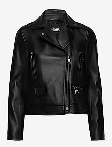 Ikonik Leather Biker Jacket - BLACK