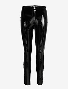 karl faux patent leggings - nahka - black