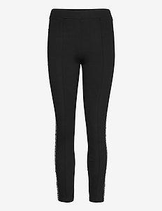 punto leggings w/ logo - leggings - black