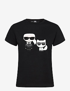 Ikonik Karl & Choupette Tee - t-shirts - black