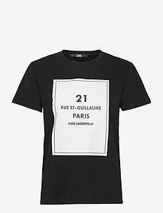 square address logo t-shirt - t-shirts - black