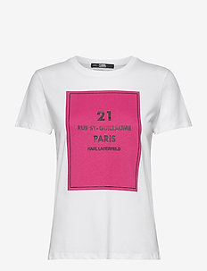 square address logo t-shirt - logo t-shirts - white