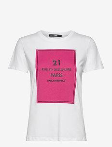 square address logo t-shirt - t-shirts - white