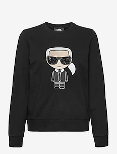 ikonik karl sweatshirt - svetarit - black