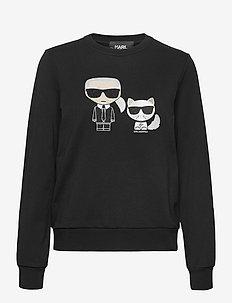 ikonik karl &choupette sweat - sweatshirts - black