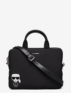 K/Ikonik Laptop Sleeve W Strap - väskor - black