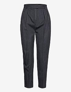 206W1005 - rette bukser - navy/white stripe