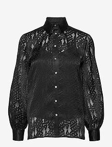 206W1605 - långärmade blusar - black