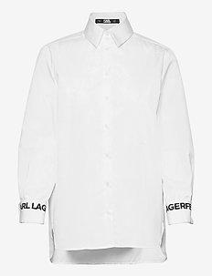 206W1609 - langermede skjorter - white