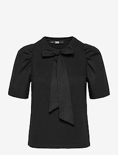 206W1708 - kortermede bluser - black