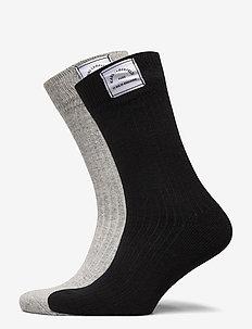 k/lounge cashmere blend sock 2 - sokker - black/gray