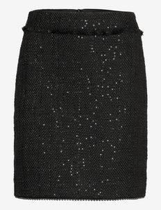 Sparkle Boucle Skirt - midi kjolar - spa bl bouc