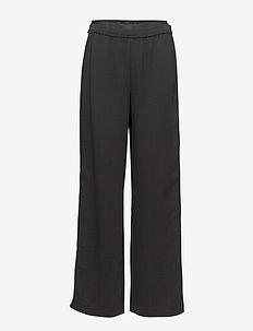KARL LAGERFELD-Wide Leg Logo Sweatpants - BLACK