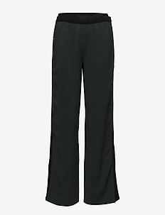 KARL LAGERFELD-Wide Leg Logo Sweatpants - GREEN GABLE