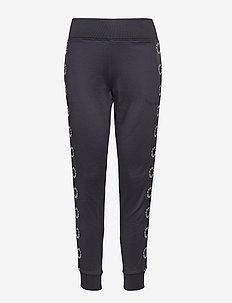 Sweatpants W/Circle Logo Tape - BLACK
