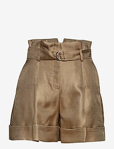 High-Waist Shorts - GOLD