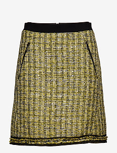 A-Line Boucle Skirt - YELLOW