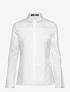 Shirt W/ Layered Back Detail - WHITE