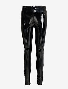 Karl Faux Patent Leggings - 999 BLACK