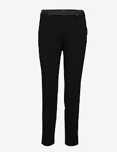 Punto Pants W/ Logo Tape - BLACK