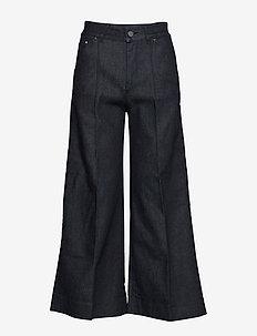 Tailored Denim Culottes - D24 DARK BLUE