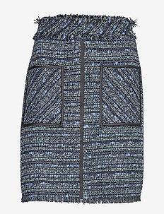 Blue Boucle Skirt - BLUE BOUCLE