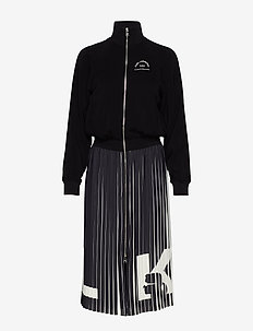 Rue St Guillaume Pleated Dress - 999 BLACK