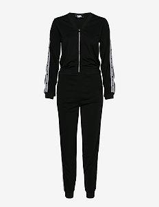 Crepe Jersey Jumpsuit - 999 BLACK