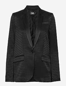 Jacket W/Karl Head Jacquard - 999 BLACK