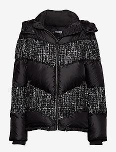 Boucle Mix Down Jacket - BLACK